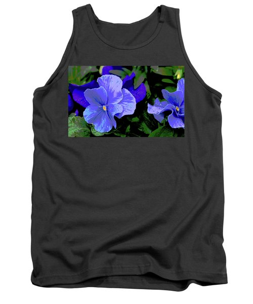 Purple Pansy Posterized Tank Top