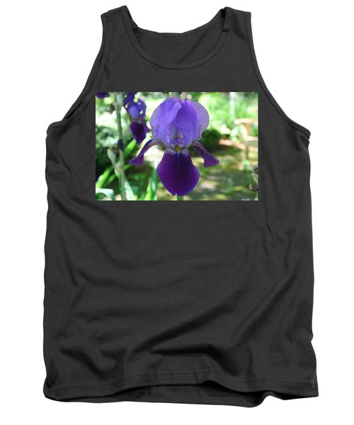 Tank Top featuring the digital art Purple Pleaser by Barbara S Nickerson