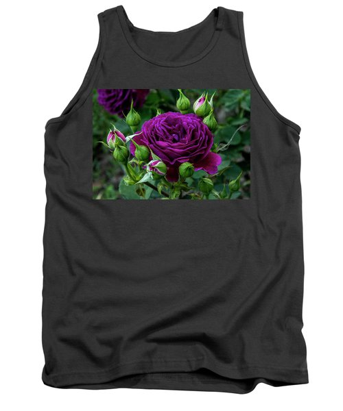 Purple Rose Tank Top