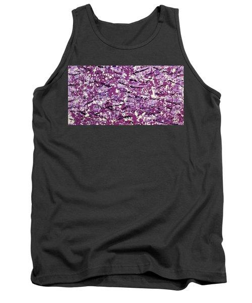 Purple Splatter Tank Top