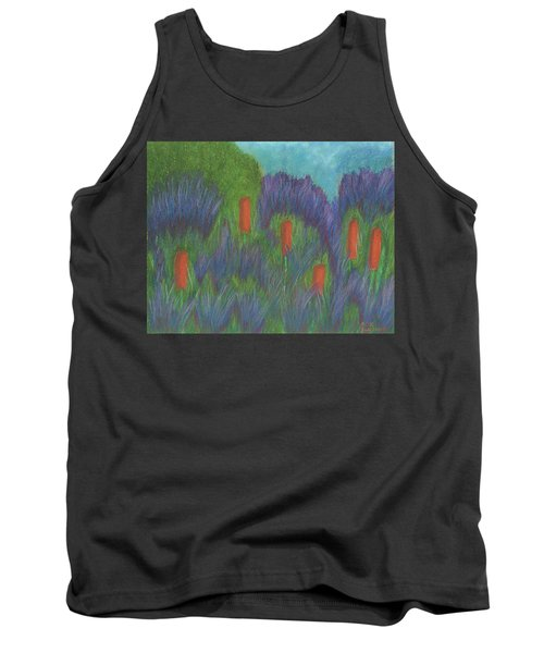 Purple Strife And Cattails Tank Top
