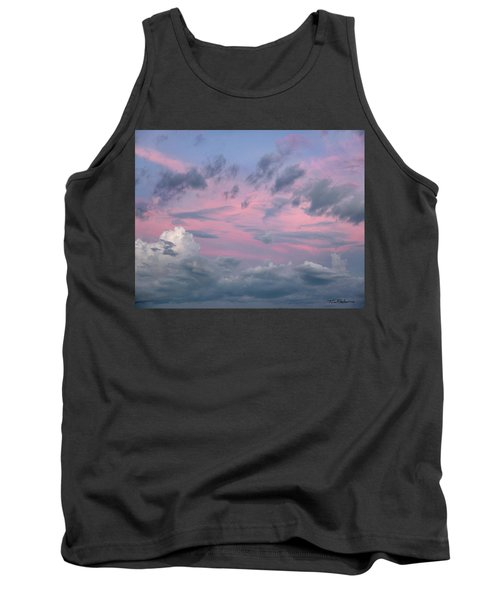Purple Sunrise Tank Top by Tim Fitzharris