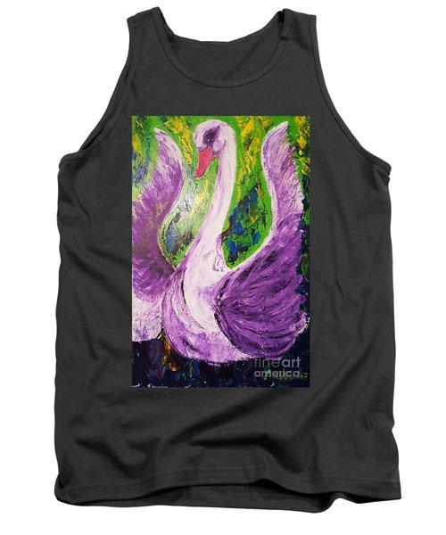 Purple Swan Tank Top by Ania Milo