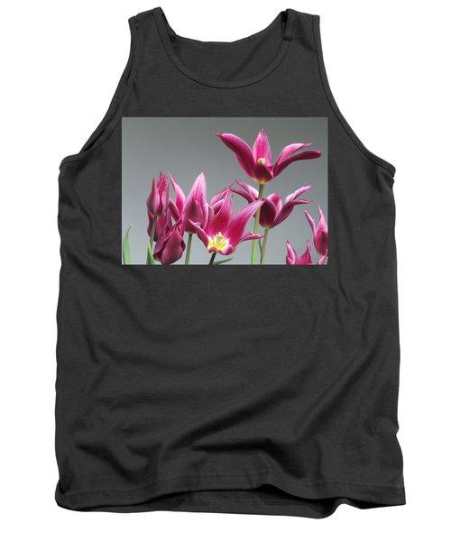 Purple Tulips Tank Top by Helen Northcott