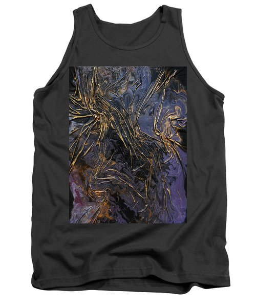 Purple With Texture Tank Top