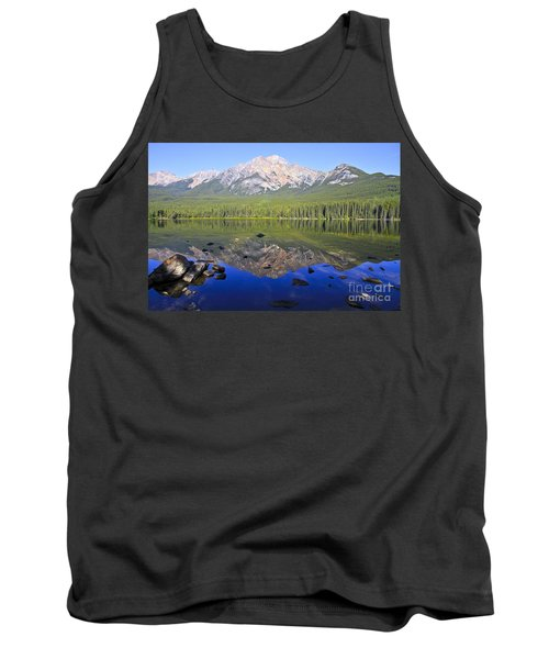 Pyramid Lake Reflection Tank Top by Teresa Zieba