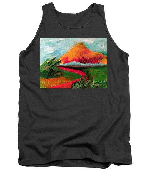 Tank Top featuring the painting Pyramid Mountain by Elizabeth Fontaine-Barr