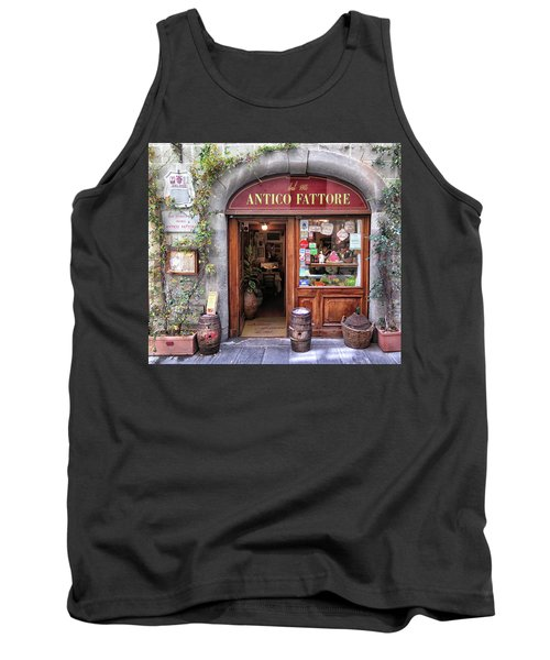 Quaint Restaurant In Florence Tank Top by Dave Mills