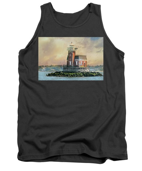 Quaint Stepping Stones Lighthouse Tank Top