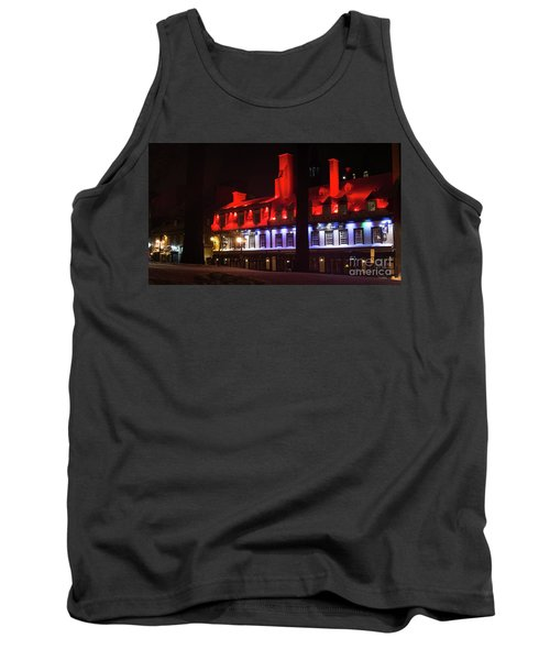 Quebec City At Night Bistro 1640 Tank Top
