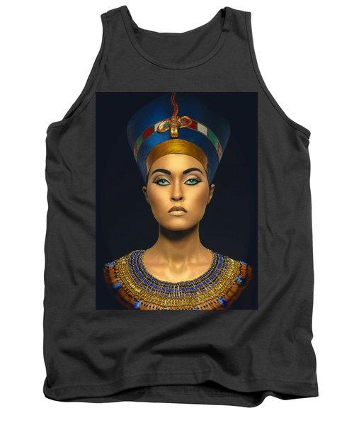 Tank Top featuring the digital art Queen Esther by Karen Showell