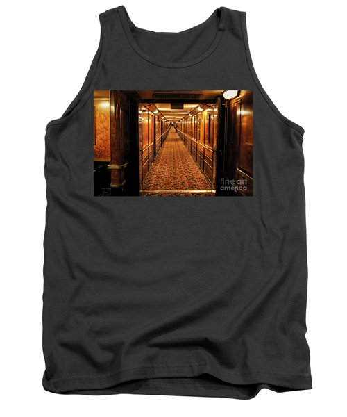 Tank Top featuring the photograph Queen Mary Hallway by Mariola Bitner
