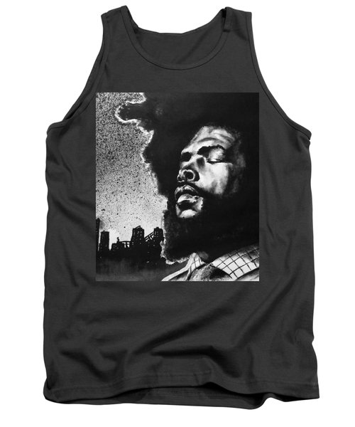 Tank Top featuring the painting Questlove. by Darryl Matthews