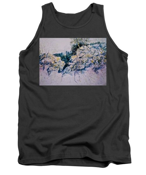 Tank Top featuring the painting Quiet Journey by Carolyn Rosenberger