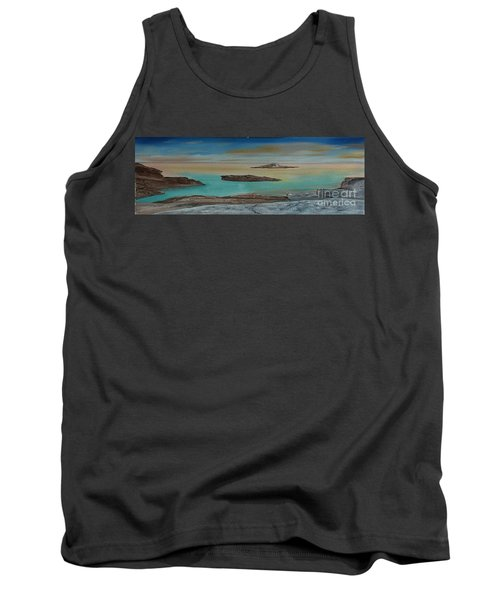Quiet Tropical Waters Tank Top by Rod Jellison