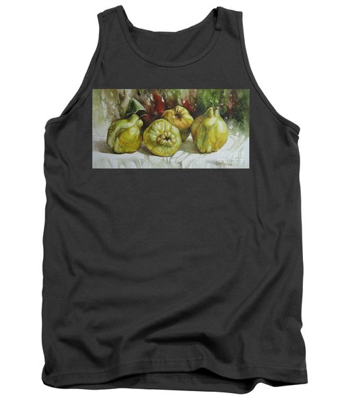 Tank Top featuring the painting Quinces by Elena Oleniuc