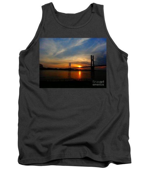 Quincy Bay View Bridge Sunset Tank Top