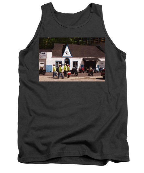 Quitting Time Tank Top by David Blank