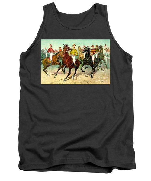 Racehorses 1893 Tank Top by Padre Art