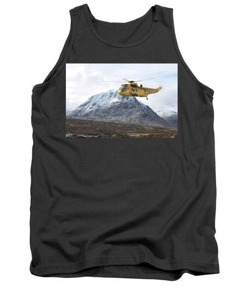 Tank Top featuring the digital art Raf Sea King - Sar by Pat Speirs