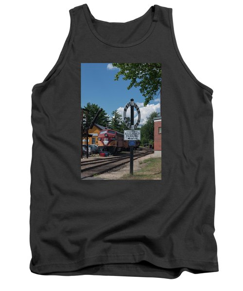 Railroad Crossing Tank Top by Suzanne Gaff