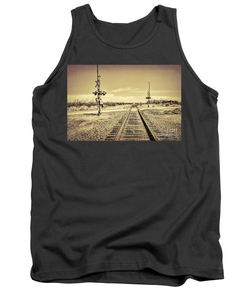 Railroad Crossing Textured Tank Top