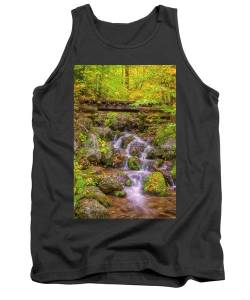 Railroad In The Woods Tank Top by David Cote