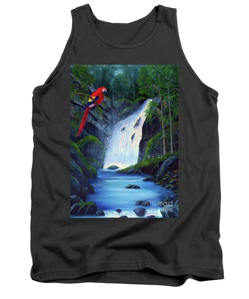 Rain Forest Macaws Tank Top by Stanton Allaben