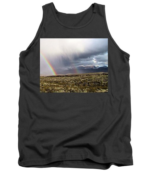 Tank Top featuring the painting Rain In The Desert by Dennis Ciscel