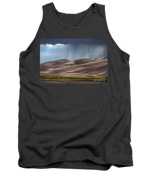 Rain On The Great Sand Dunes Tank Top by Catherine Sherman