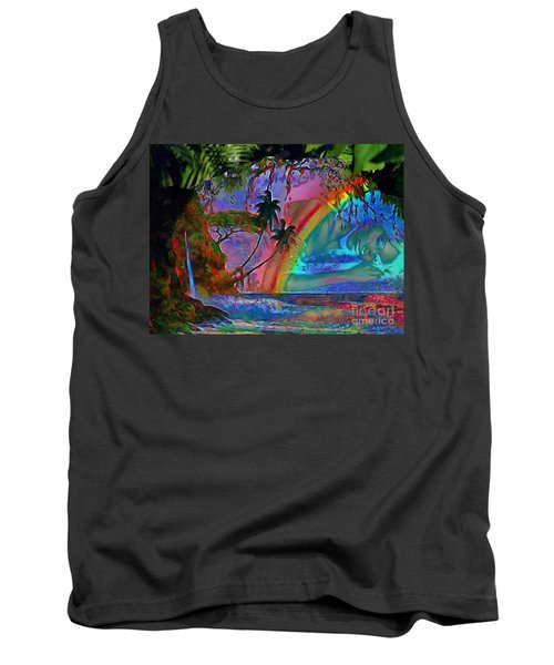 Rainboow Drenched In Layers Tank Top by Catherine Lott