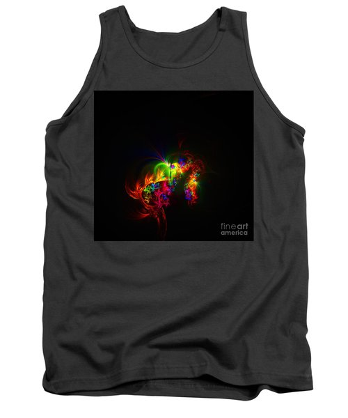 Rainbow Curls Tank Top