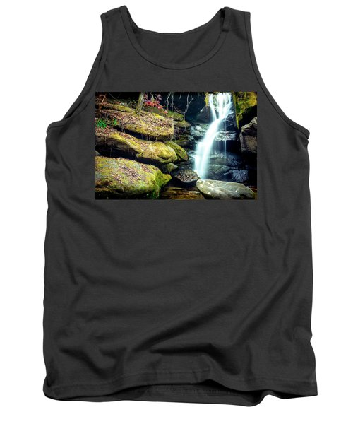 Tank Top featuring the photograph Rainbow Falls At Dismals Canyon by David Morefield