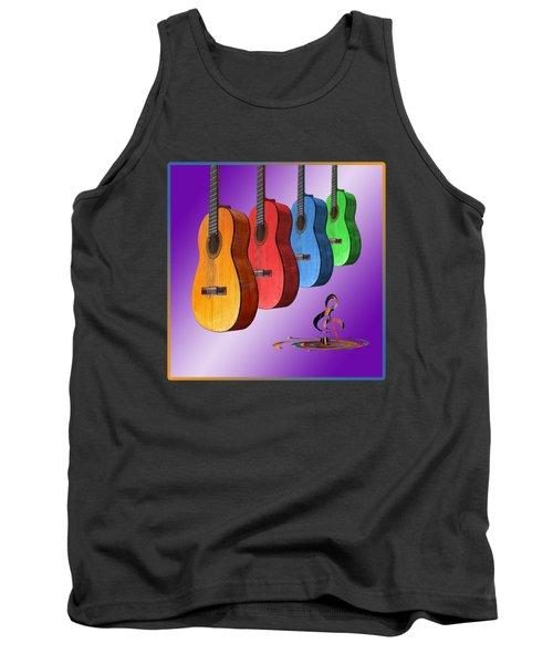 Rainbow Fantasia On Guitars Tank Top