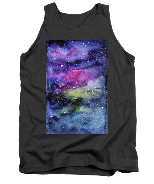 Rainbow Galaxy Watercolor Tank Top