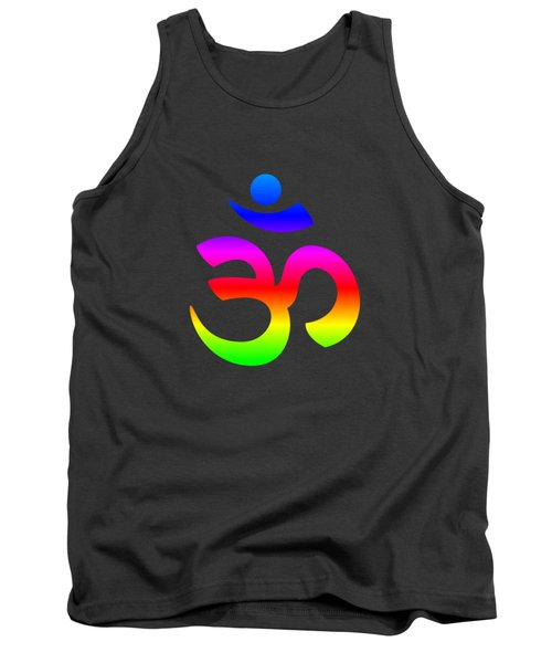 Rainbow Hinduism Symbol Tank Top
