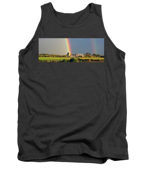 Rainbow Over Barn Silo Tank Top
