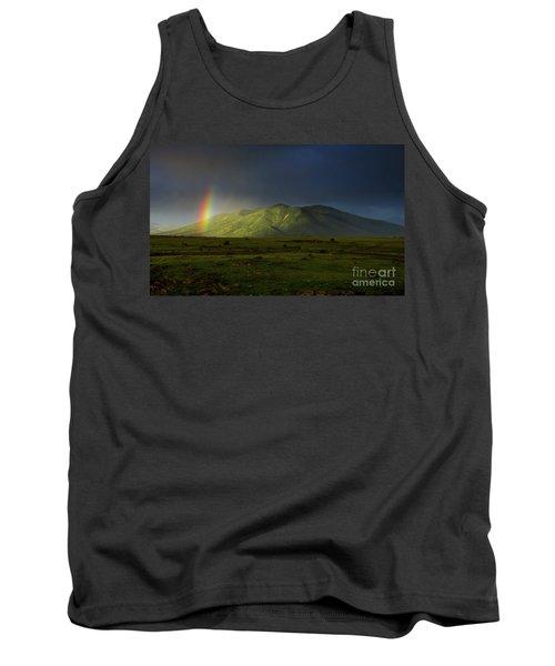 Rainbow Over Mount Ara After Storm, Armenia Tank Top by Gurgen Bakhshetsyan