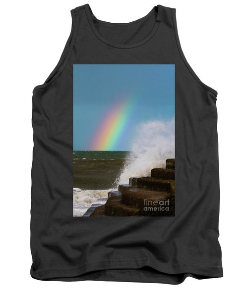 Rainbow Over The Crashing Waves Tank Top
