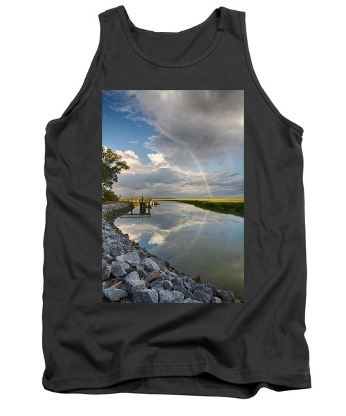 Rainbow Reflection Tank Top by Patricia Schaefer