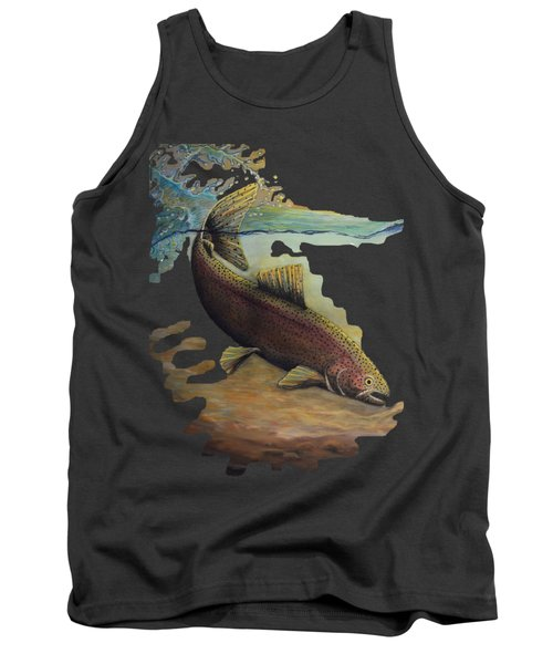 Rainbow Trout Trans Tank Top by Kimberly Benedict