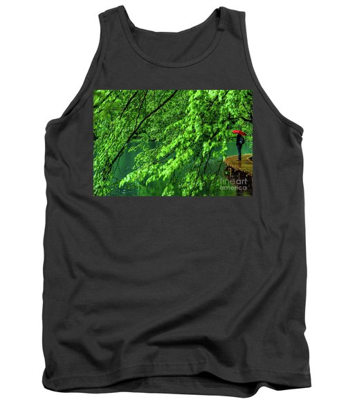 Raining Serenity - Plitvice Lakes National Park, Croatia Tank Top