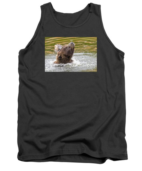 Rambo Bear Tank Top by Harold Piskiel
