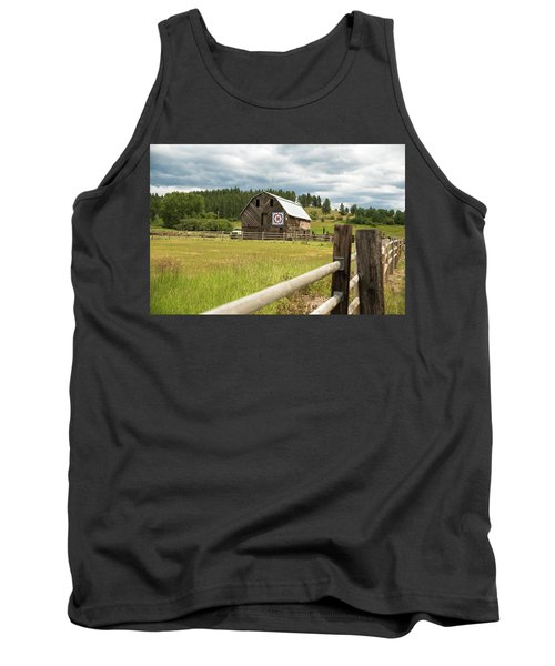 Ranch Fence And Barn With Hex Sign Tank Top