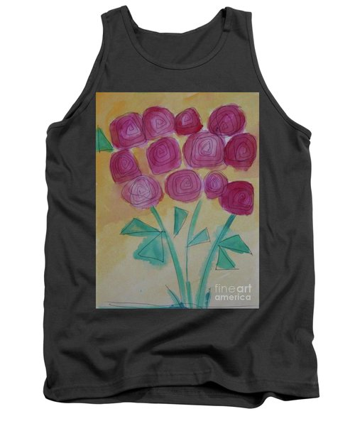 Tank Top featuring the painting Randi's Roses by Kim Nelson
