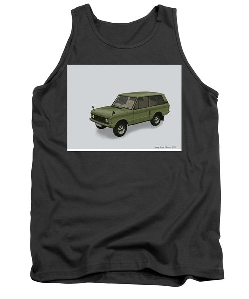 Tank Top featuring the mixed media Range Rover Classical 1970 by TortureLord Art