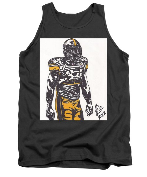 Tank Top featuring the drawing Rashard Mendenhall 2 by Jeremiah Colley