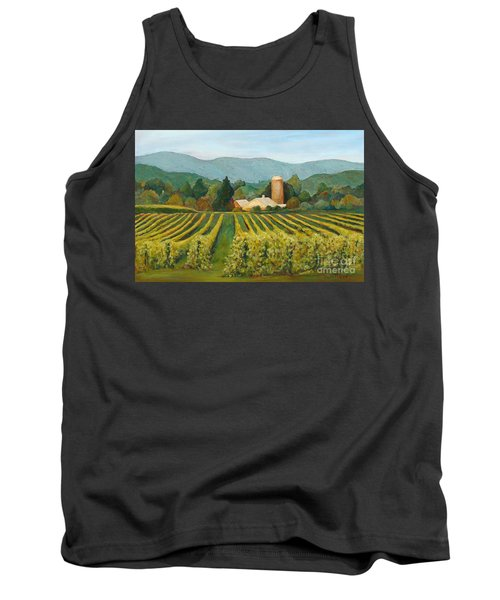 Raspberry Rows Tank Top by Phyllis Howard