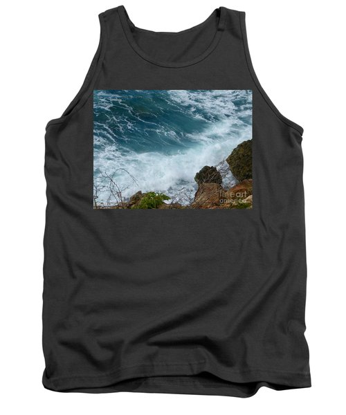 Raw Blue Power Tank Top by Margaret Brooks