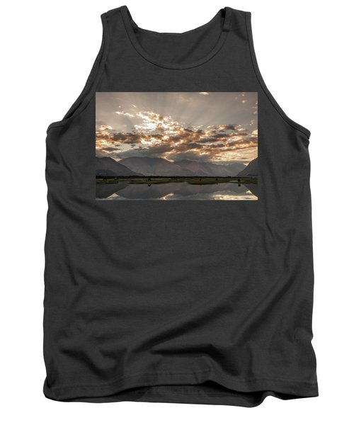 Tank Top featuring the photograph Rays And Reflection, Hunder, 2006 by Hitendra SINKAR